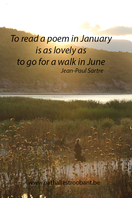 Reading a poem in January